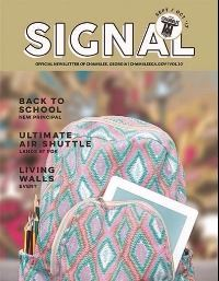 cover of September October Chamblee Signal with backpack on the front