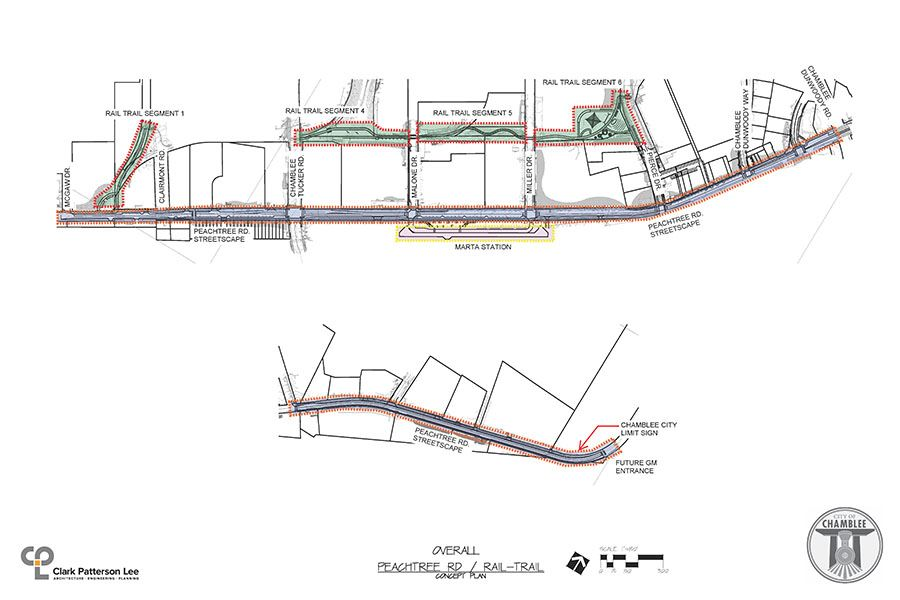 Peachtree Rd - Rail Trail Overall