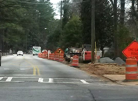 Construction on Chamblee Dunwoody Road