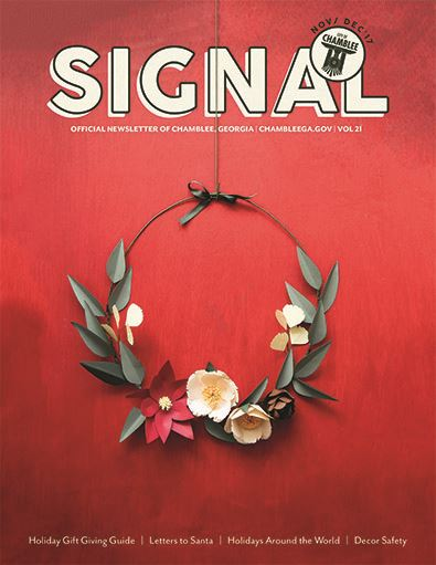 Signal Nov-Dec Cover  with Holly Wreath on it