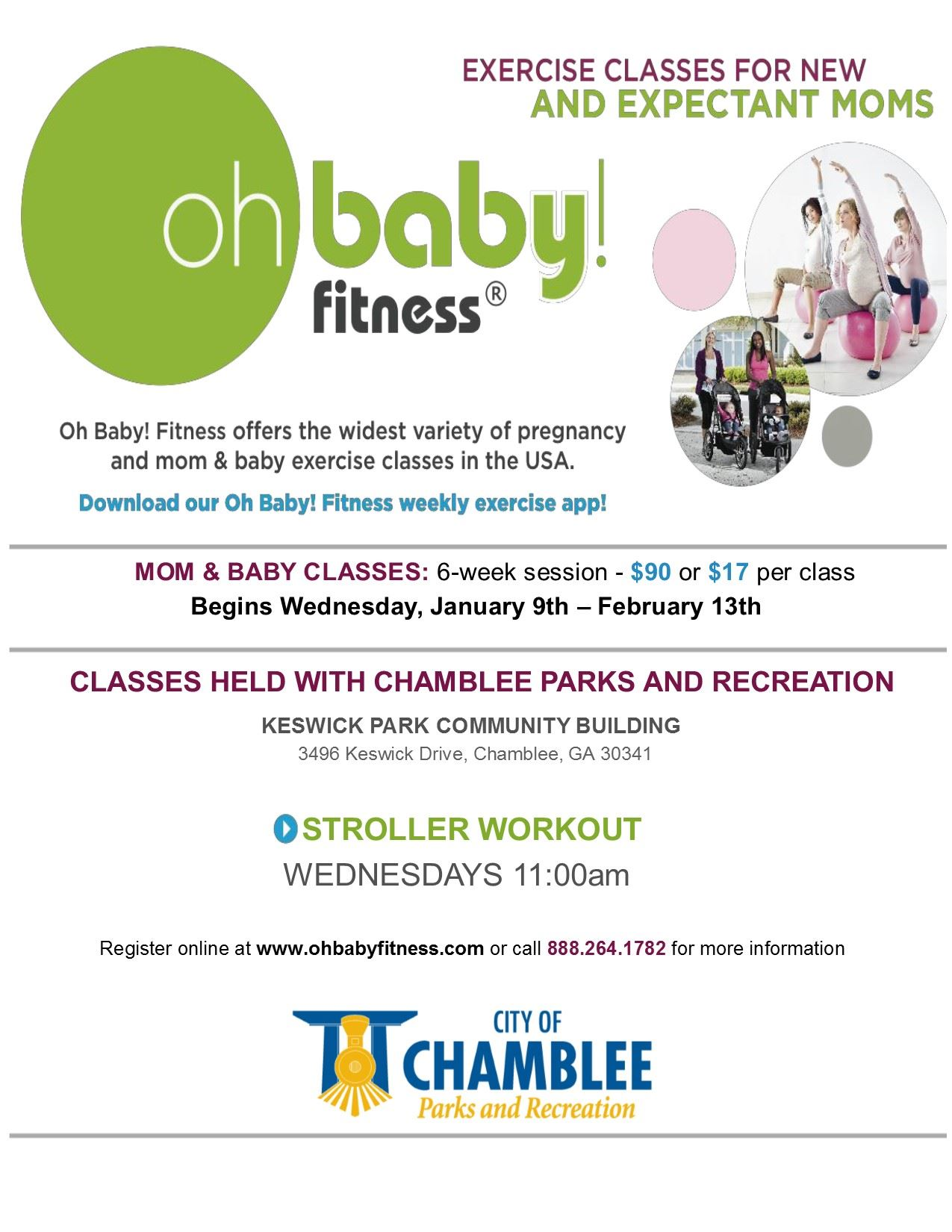OhBaby! January 2019 Class Flyer